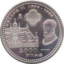 Moneda 2000 Pesetas 1998 Madrid Numismática Española