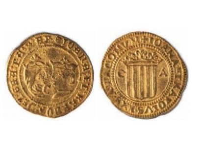 1 Doble ducado Zaragoza Juana y Carlos