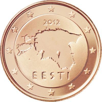1 Euro Cent Estonia 2012