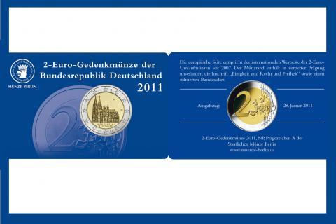 Coincard Alemania 2 Euro Berlín A