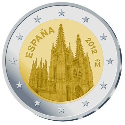 2 Euro España 2012 conmemorativos Catedral de Burgos