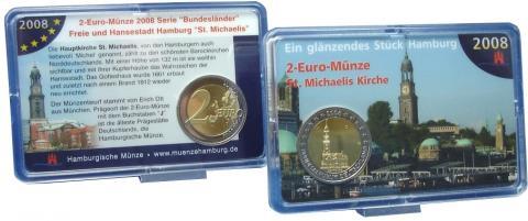CoinCard Alemania 2008 Hamburgo J