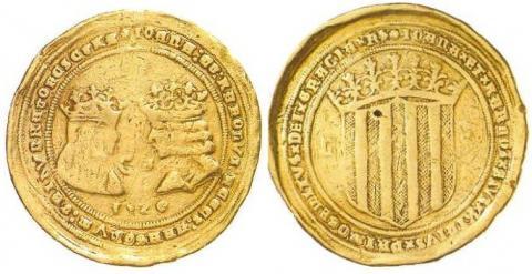 50 Ducados de Juana y Carlos. Zaragoza (1520)