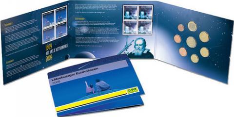 """Luxemburgo cartera BU """"400 Años de Astronomía"""" 2009"""