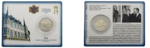 Coincar Luxemburgo 2011 2 Euro Principe Jean