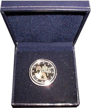 2 Euro Eslovenia 2011 PROOF Centenario del nacimiento de Franc Rozman en capsula