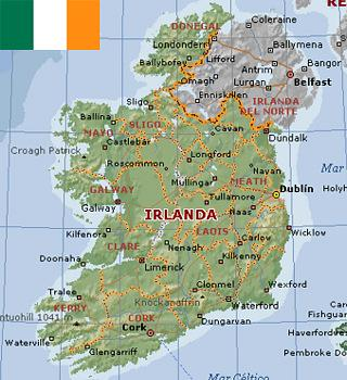 Mapa de Irlanda  Online Map