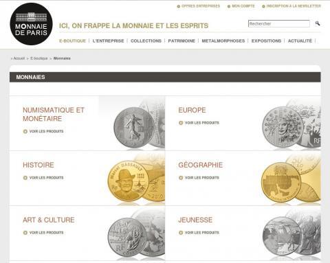 Nueva página web de la ceca Francesa