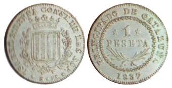 1 Peseta 1837 Barcelona