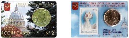 CoinCards Vaticano BU 2011 50 Euro Cent