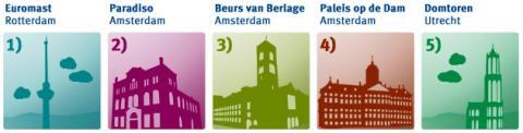 Monumentos candidatos al tema Set BU 2013 Holanda