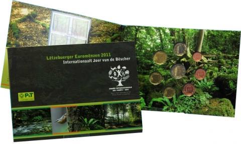 Luxemburgo, cartera monedas y sellos 2011
