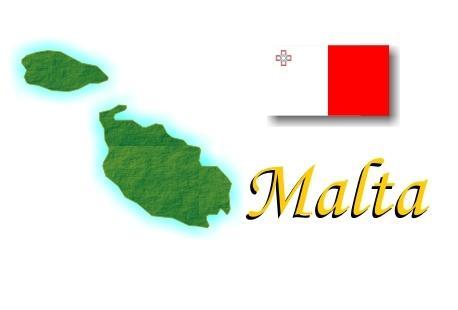 Mapa y Bandera de Malta
