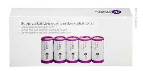 Rollos de 2 Euro conmemorativos Finlandia 2011
