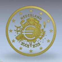 Boceto 2 Euro Conmemorativos 10 Años circulación del Euro