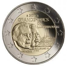 2 Euro Luxemburgo 2012 conmemorativos de la muerte del Gran Duque Guillermo