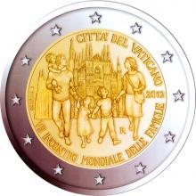 2 Euro Conmemorativos Vaticano 2012 VII Encuentro Mundial de las Familias