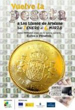 Desde el 7 de Enero hasta el 6 de Marzo de 2012 vuelve la peseta a Los Llanos de