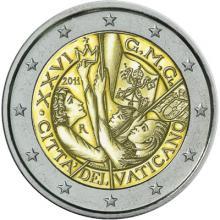 2 Euro Conmemorativos Vaticano 2011 26º Jornadas mundiales de la Juventud Madrid