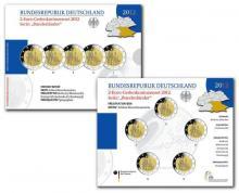 Cartera Alemania BU y PROOF 5x2 Euro Conmemorativos Estado de Bavaria