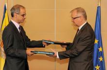 Andorra recibe el apoyo de la UE para acuñar euros en 2013