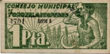 Billete local 1 Peseta de Torreblascopedro 1937