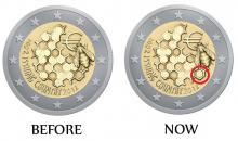 Cambios en uno de los 5 diseños del concurso a conmemorativa 2012