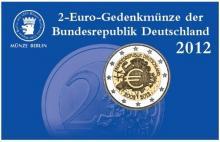 Coincard Alemania 2 Euro 2012 10 Años circulación del Euro Berlín A