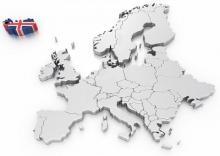 Imagen 3D de Islandia en Europa
