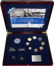 Cartera PROOF Finlandia 2005 con moneda Markka de 1945