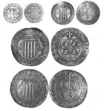 Reales plata Juana y Carlos de Aragón