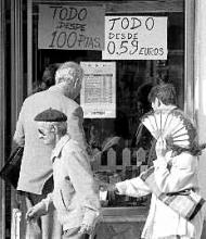Tienda utilizando Euros en Prueba de Churriana 1998
