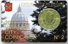 CoinCard Vaticano BU 2011 50 Euro Cent